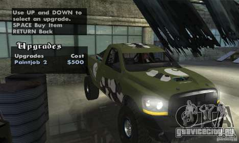 Dodge Power Wagon Paintjobs Pack 1 для GTA San Andreas вид справа
