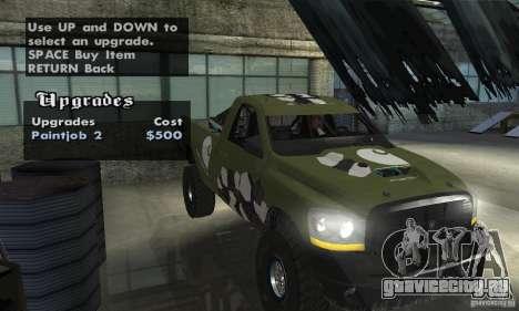 Dodge Power Wagon Paintjobs Pack 1 для GTA San Andreas вид справа