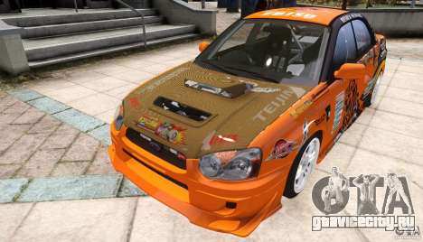 Subaru Impreza WRX STi GDB Team Orange для GTA 4 вид справа
