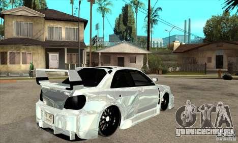 Subaru Impreza Tunned для GTA San Andreas вид справа