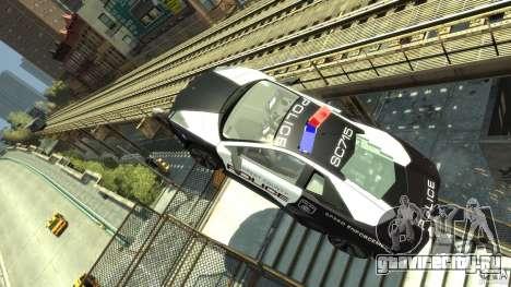 Lamborghini Reventon Police Hot Pursuit для GTA 4 вид изнутри