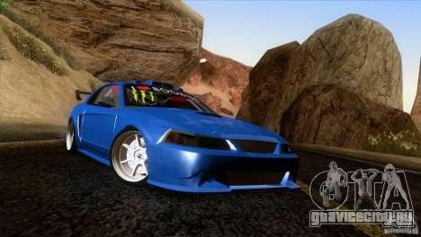 Ford Mustang GT 1999 для GTA San Andreas вид сзади слева