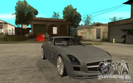 Mercedes-Benz SLS для GTA San Andreas вид сзади