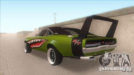Dodge Charger RT SharkWide для GTA San Andreas вид сзади слева