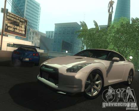Nissan GTR R35 Spec-V 2010 Stock Wheels для GTA San Andreas салон