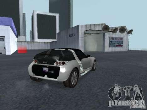 Smart Roadster Coupe для GTA San Andreas вид сзади слева