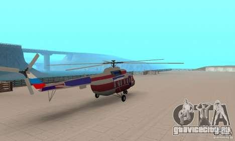МИ-17 гражданский (Русский) для GTA San Andreas вид слева