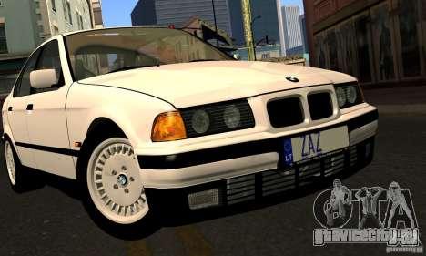 BMW E36 320i для GTA San Andreas вид сверху