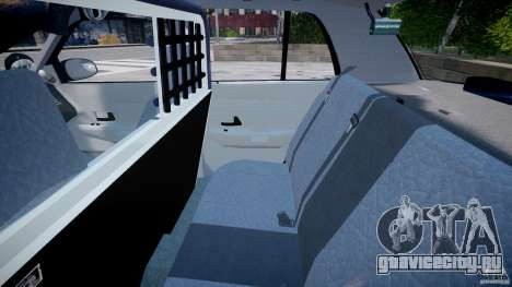 Ford Crown Victoria SFPD K9 Unit [ELS] для GTA 4 вид сзади