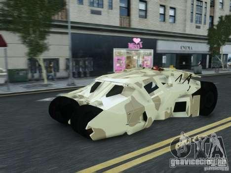 HQ Batman Tumbler для GTA 4 вид сзади слева
