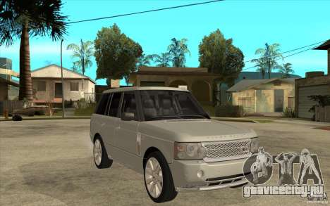 Land Rover Range Rover Supercharged 2009 для GTA San Andreas вид сзади