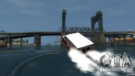 Ambulance boat для GTA 4 вид сверху