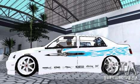 Volkswagen Jetta FnF для GTA San Andreas вид сзади слева