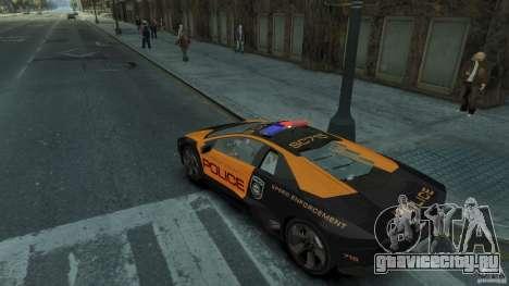 Lamborghini Reventon Police Hot Pursuit для GTA 4 вид справа