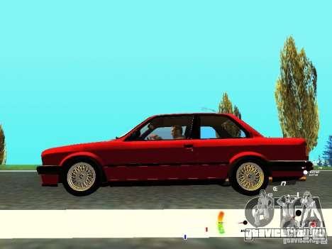 BMW E30 87-91 для GTA San Andreas вид изнутри