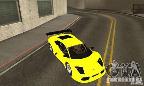 Lamborghini Murcielago R GT для GTA San Andreas вид сверху