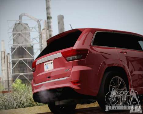 Jeep Grand Cherokee SRT-8 2012 для GTA San Andreas вид сбоку