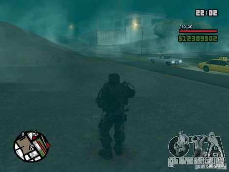 Военый сталкер в экзоскелете для GTA San Andreas третий скриншот