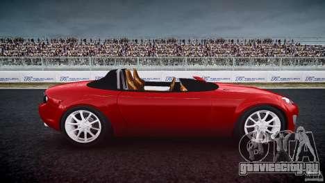 Mazda Miata MX5 Superlight 2009 для GTA 4 вид изнутри