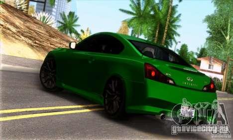 Infiniti IPL G Coupe 2012 для GTA San Andreas вид слева