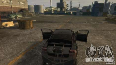 Dodge Charger Fast Five для GTA 4 вид изнутри
