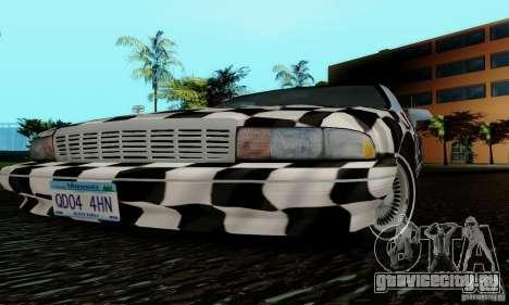 Chevrolet Caprice 1991 для GTA San Andreas вид снизу
