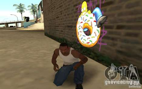 Homer Graffiti Mod для GTA San Andreas третий скриншот