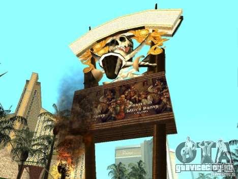 Новые текстуры для казино Визаж для GTA San Andreas второй скриншот