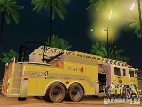 Pierce Arrow XT BCFD Tower Ladder 4 для GTA San Andreas салон