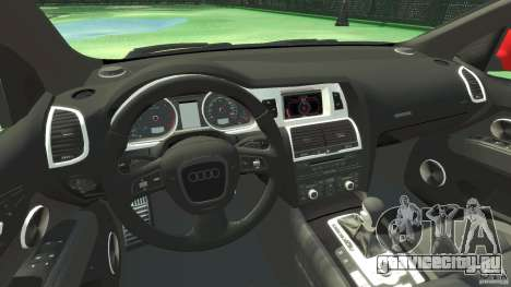Audi Q7 v12 TDI для GTA 4 вид сзади