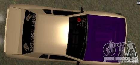 Elegy Drift Masters Final для GTA San Andreas вид справа