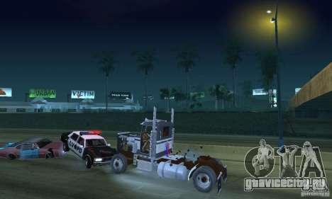 Peterbilt 289 для GTA San Andreas вид сбоку