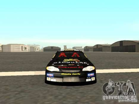 Chevrolet Monte Carlo Nascar CINGULAR Nr.31 для GTA San Andreas вид сзади