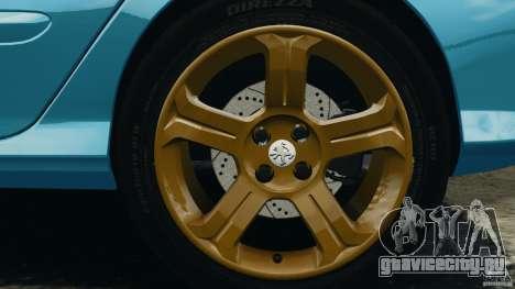 Peugeot 308 GTi 2011 v1.1 для GTA 4 вид снизу