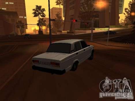 ВАЗ 2107 Azeri full для GTA San Andreas вид сзади слева