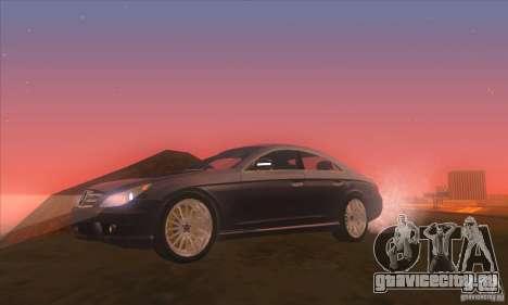 Mercedes-Benz CLS AMG для GTA San Andreas вид сзади