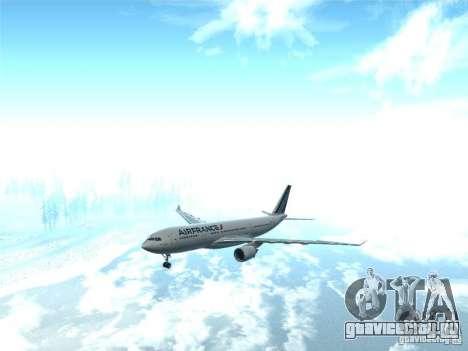 Airbus A330-200 Air France для GTA San Andreas вид сзади