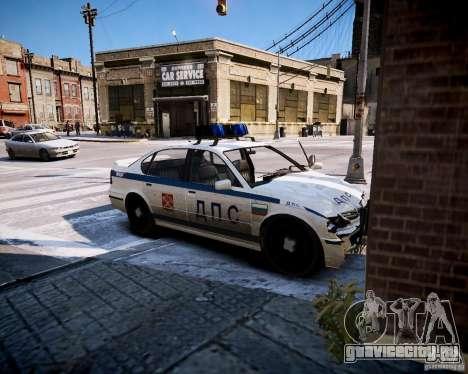 Russian Police Patrol для GTA 4 вид сзади