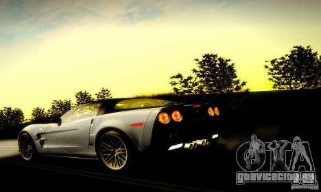 Chevrolet Corvette ZR-1 для GTA San Andreas вид снизу