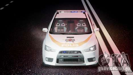 Mitsubishi Evolution X Police Car [ELS] для GTA 4 вид сверху