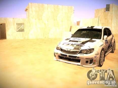 Subaru impreza Tarmac Rally для GTA San Andreas двигатель