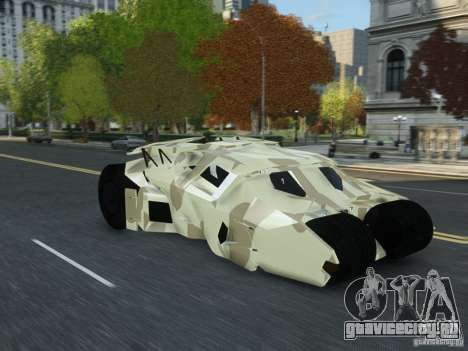 HQ Batman Tumbler для GTA 4 вид справа