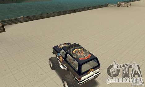 Chevrolet Blazer K5 Monster Skin 2 для GTA San Andreas вид сзади слева