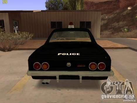 Chevrolet Opala Police для GTA San Andreas вид справа