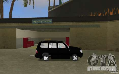 Toyota Land Cruiser 100 VX V8 для GTA Vice City вид слева