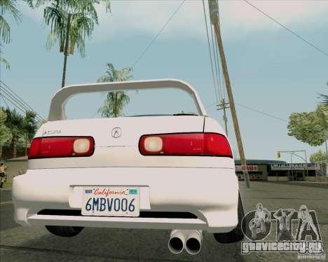 Acura Integra для GTA San Andreas вид сзади