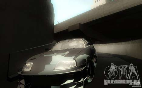 Toyota Supra Chargespeed для GTA San Andreas салон