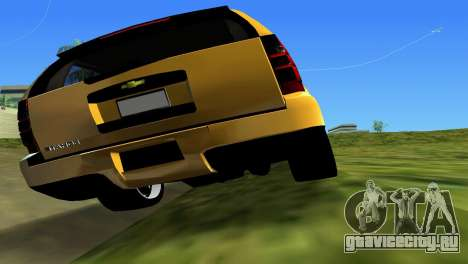 Chevrolet Tahoe 2011 для GTA Vice City вид изнутри