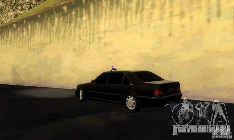 Mercedes-Benz W140 S600 Long Deputat Style для GTA San Andreas вид слева