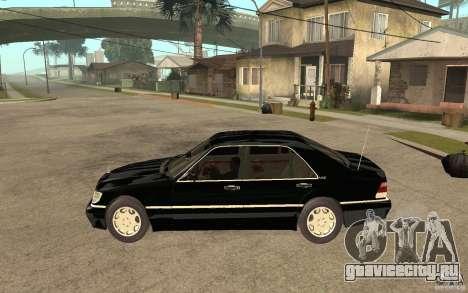 Mercedes-Benz S600 V12 W140 1998 V1.3 для GTA San Andreas вид слева